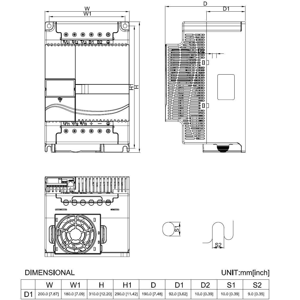 35884 vfd150e43a 400v400v 15kw keypad dimensions