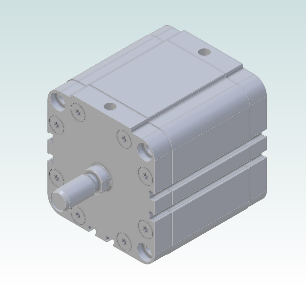 37502 2300800050cp compact cilinder 80mm bore 50mm stroke render