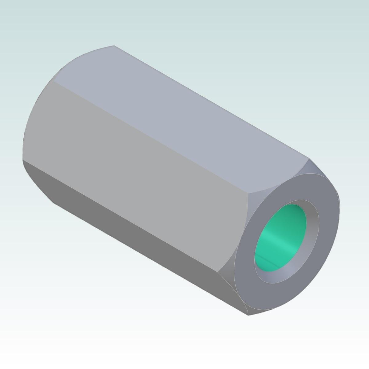 37821 hex long nut m3 l10mm