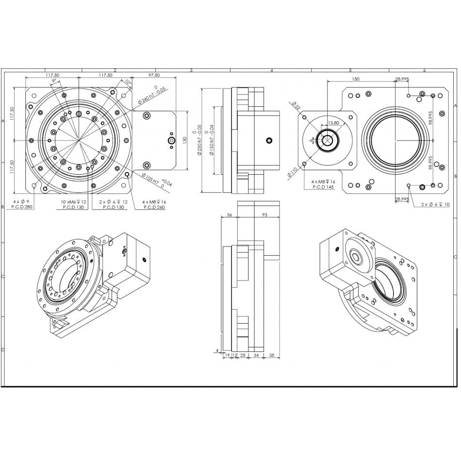 39872 dcnchsrf230f100b22i10 hollow shaft reducer