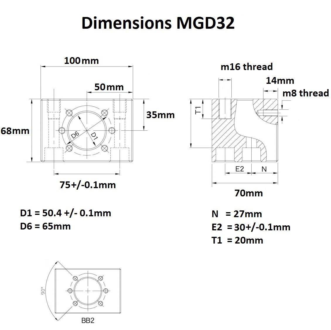 40062 mgd32 dimensions