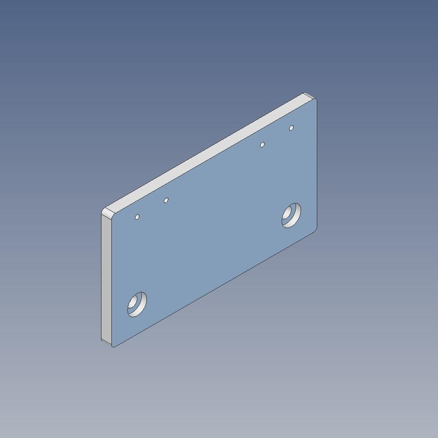 40x160l endplate for 16mm ballscrew
