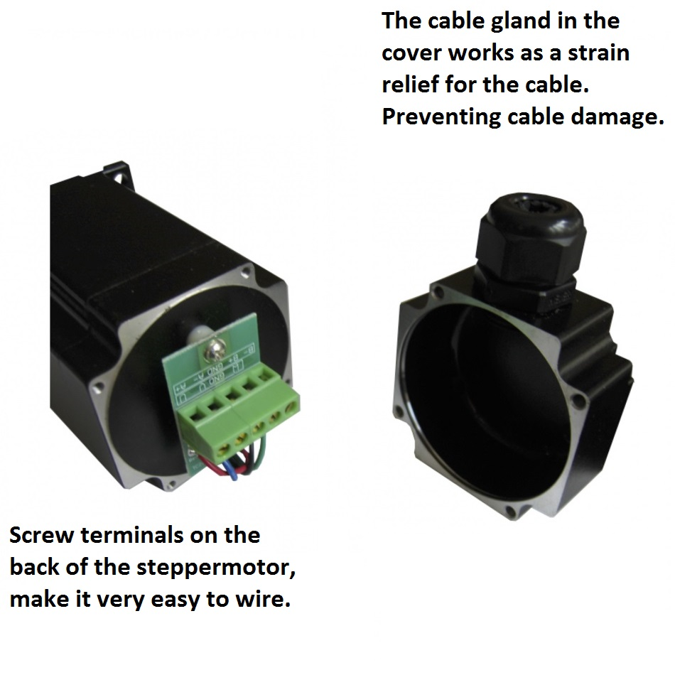 41272 dcncnema34 80nm ip54 screw terminals on back of motor