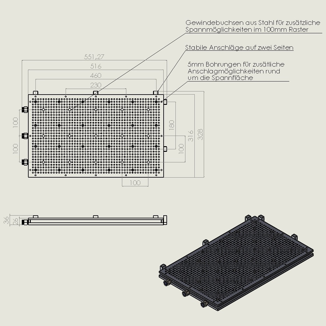 42165 vacuum table vt5030gr technical drawing