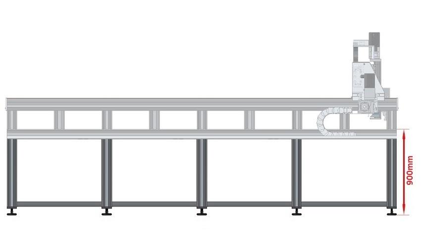 42271 dcnc table frame 3700x1790mm