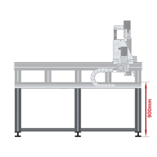 42451 dcnc table frame 1700x3600mm