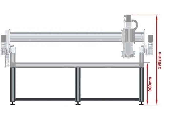 42452 dcnc table frame 1700x3600mm