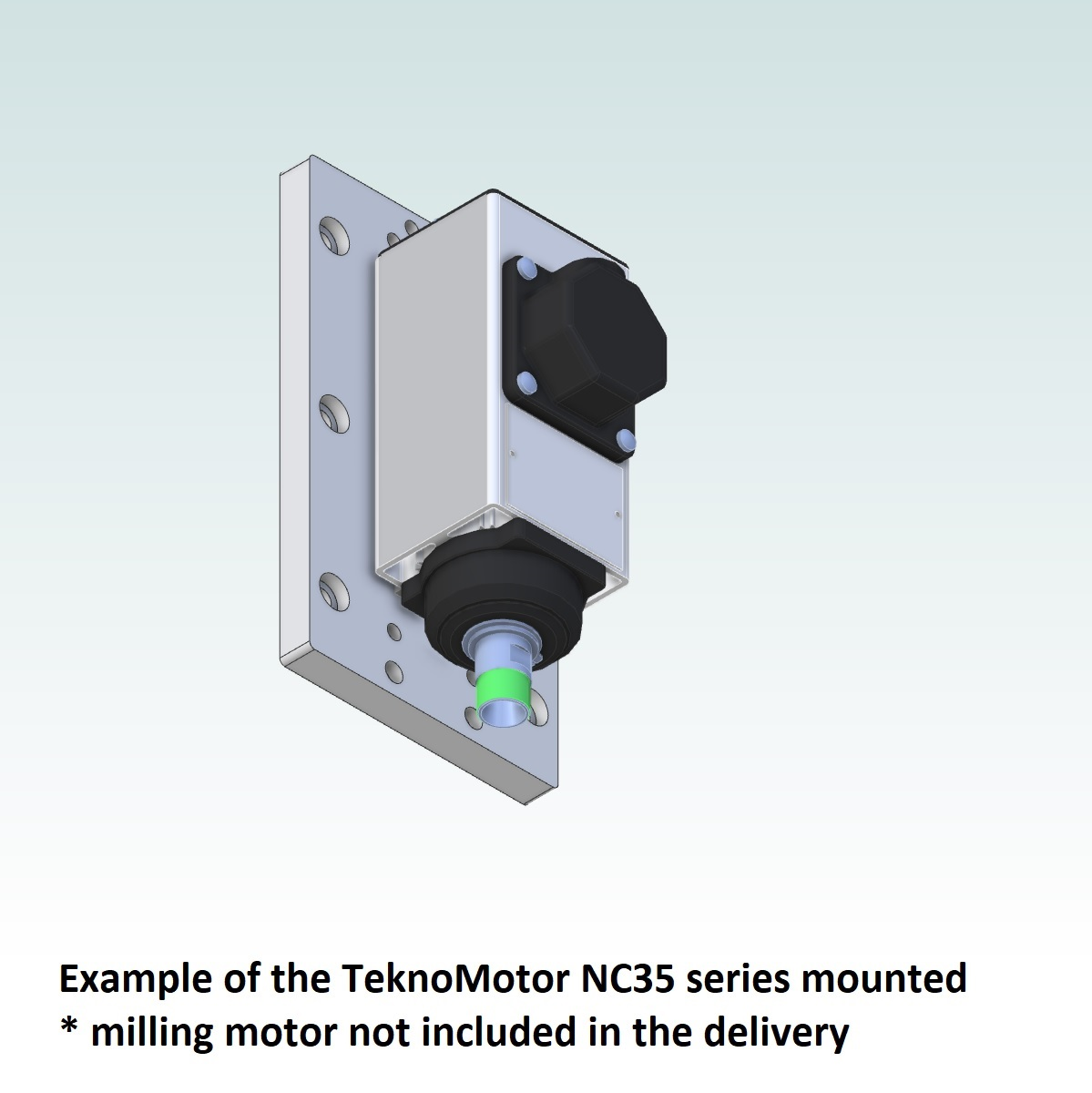 42715 teknomotor mountingplate icp4030 example with teknomotor nc35 mounted