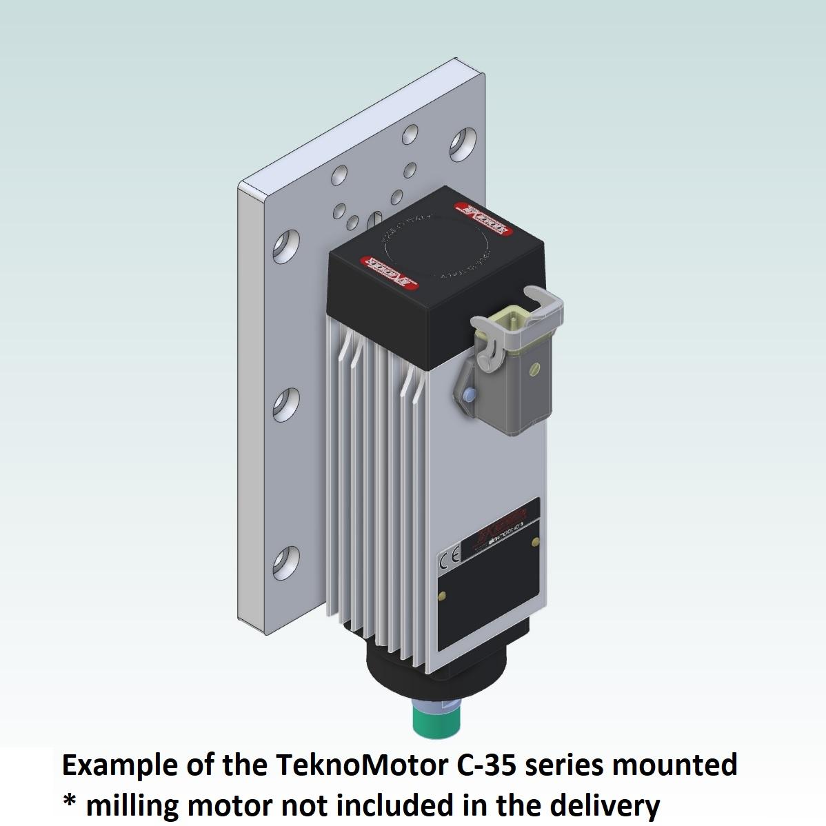 42717 teknomotor mountingplate icp4030 example with teknomotor c35 06kw