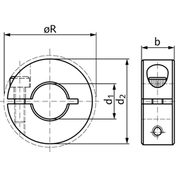 42832 clamping rings bore 15mm dimensions
