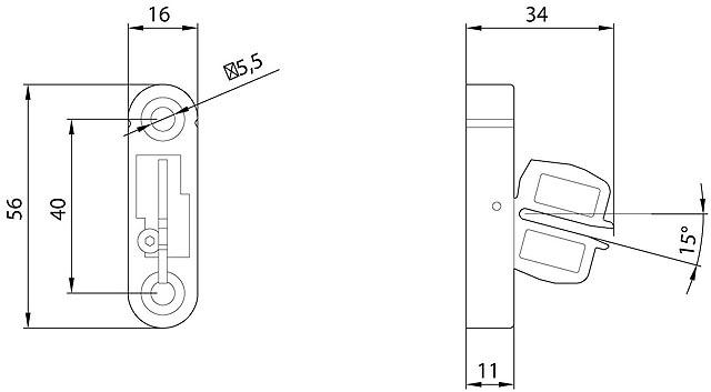 42962 door interlock actuator 3sx3228 adjustable angles dimensions