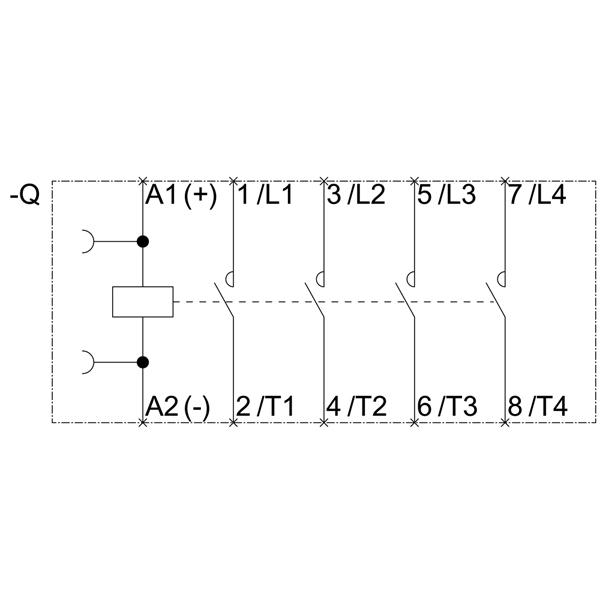 43014 siemens contactor ac4 55kw400v new type 3rt23171bb40 schematic
