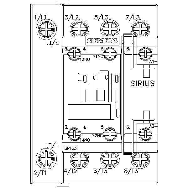 43022 siemens contactor ac4 75kw400v new type 3rt23251bb40 screw type