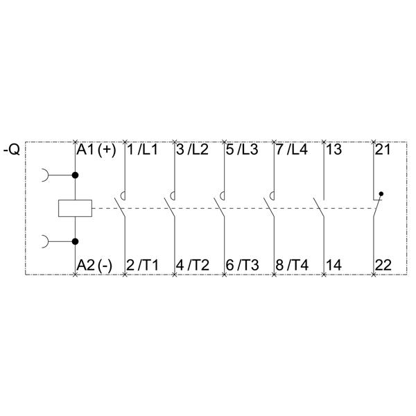 43024 siemens contactor ac4 75kw400v 3rt23251bb40 schematic