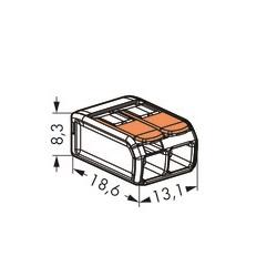 43053 wago terminal block 2 wire 221412