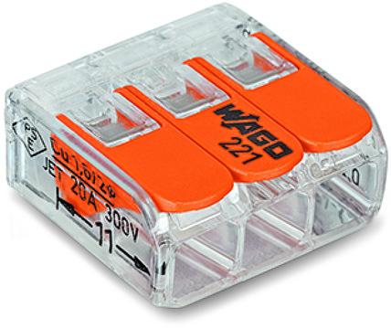 43061 wago terminal block 3 wire 221413