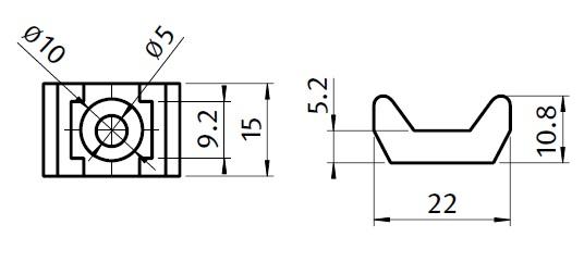 43103 universal cable binding block dimensions