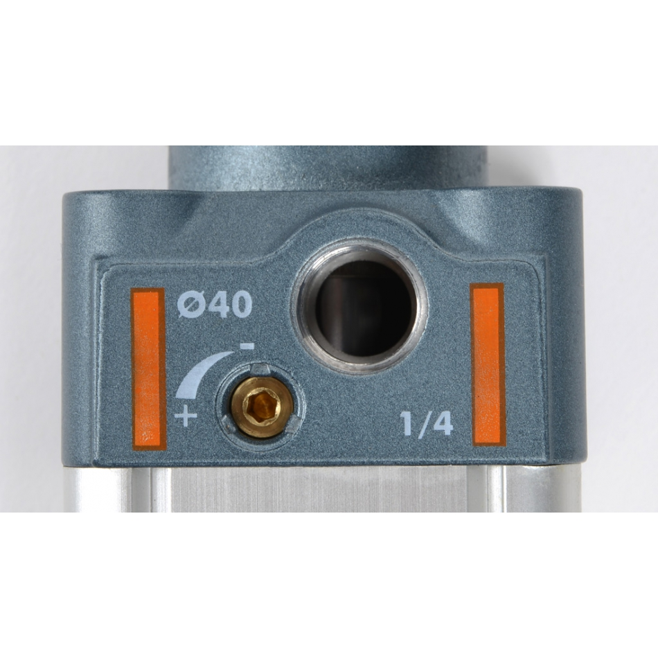 43122 121 a 40 0550 xp pneumatic cilinder iso15552 series a 14 40mm bore 550mm stroke close up