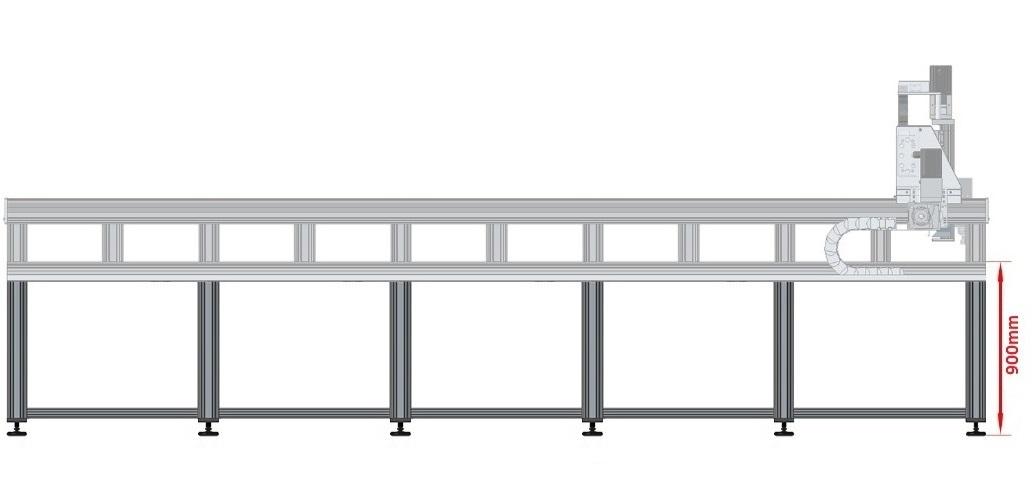 43221 dcnc table frame 4700x1790mm