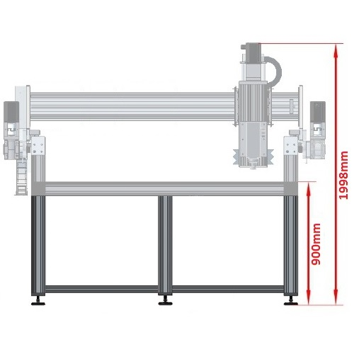 43242 dcnc table frame 5700x1790mm