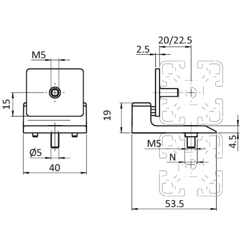 43393 door stop with magnetic catch 093111 dimensions