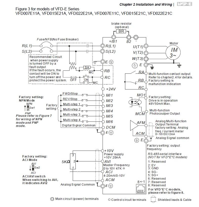 43403 vfd007e11a 1x115v3x230v 075kw keypad basic wiring 115vac single phase