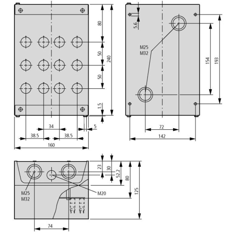 43432 eaton moeller m22i12 222688 dimensions