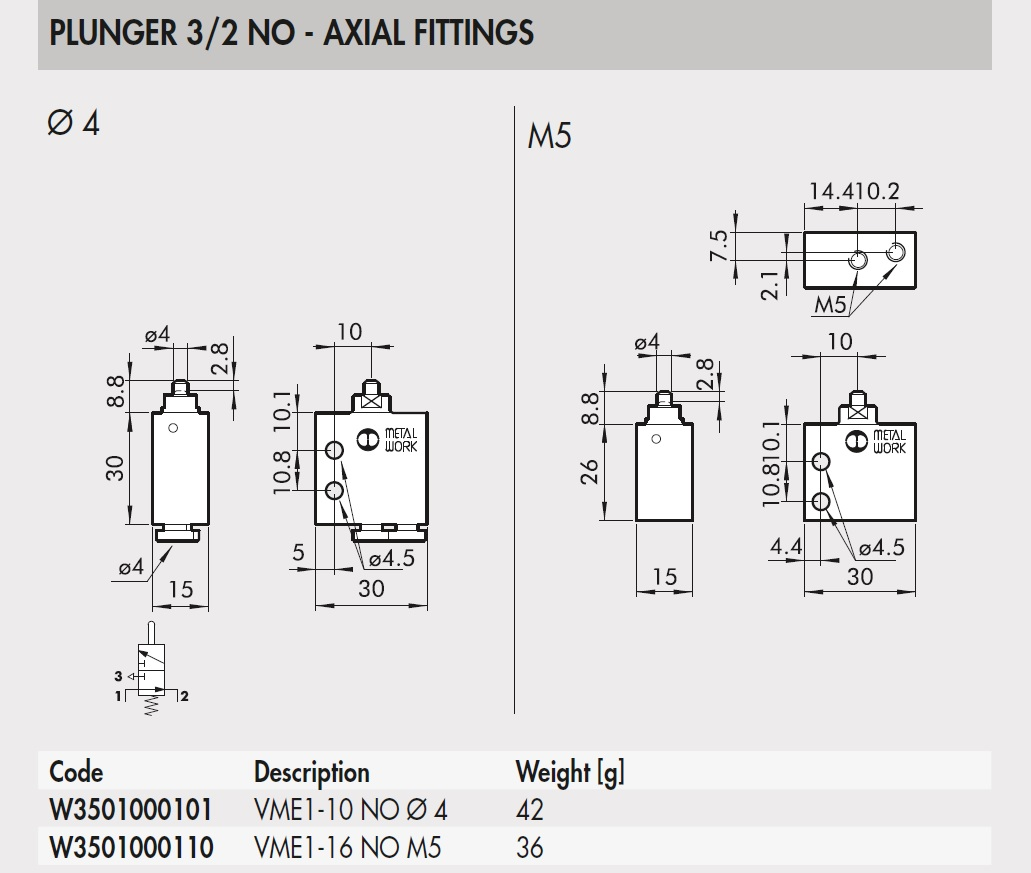 43702 w3501000101 vme110 32 no axial fittings 4 2d dimensions