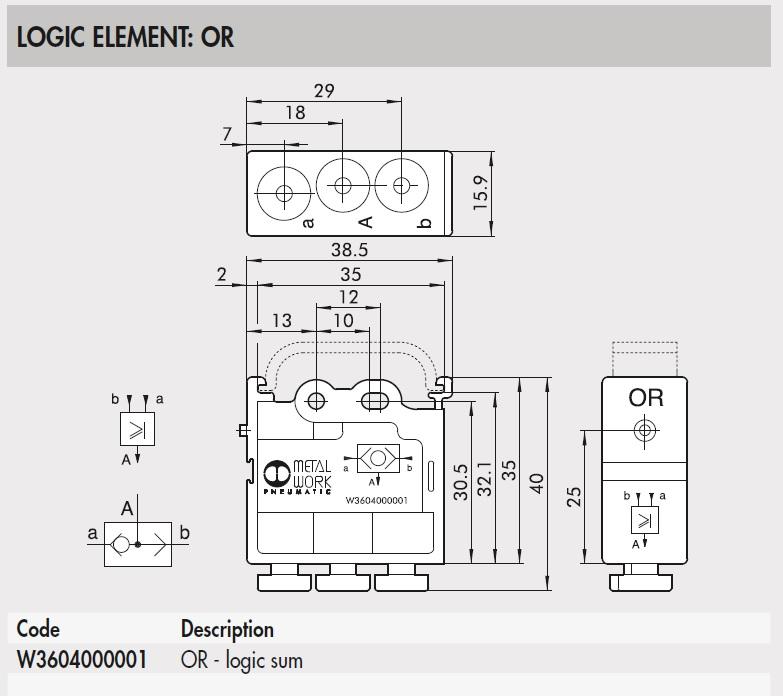 43712 w3604000001 or logic element 2d dimensions