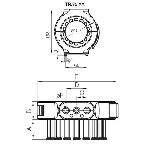 43823 igus echain triflex r series tr8501 dimensions