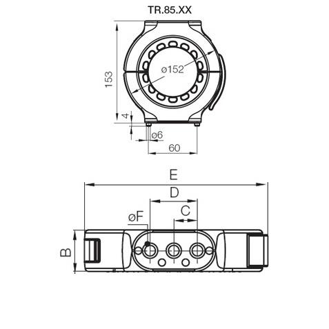 43833 igus echain triflex r series tr8501 dimensions