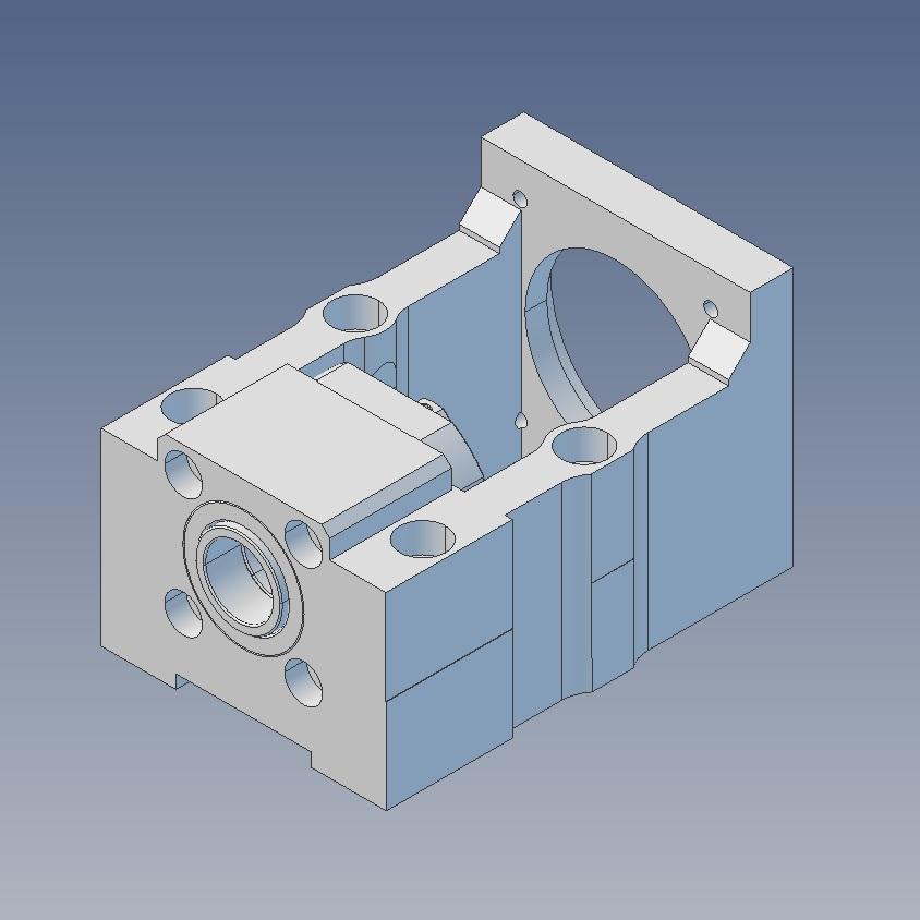 43851 100x100 servo motor bracket mbc25x