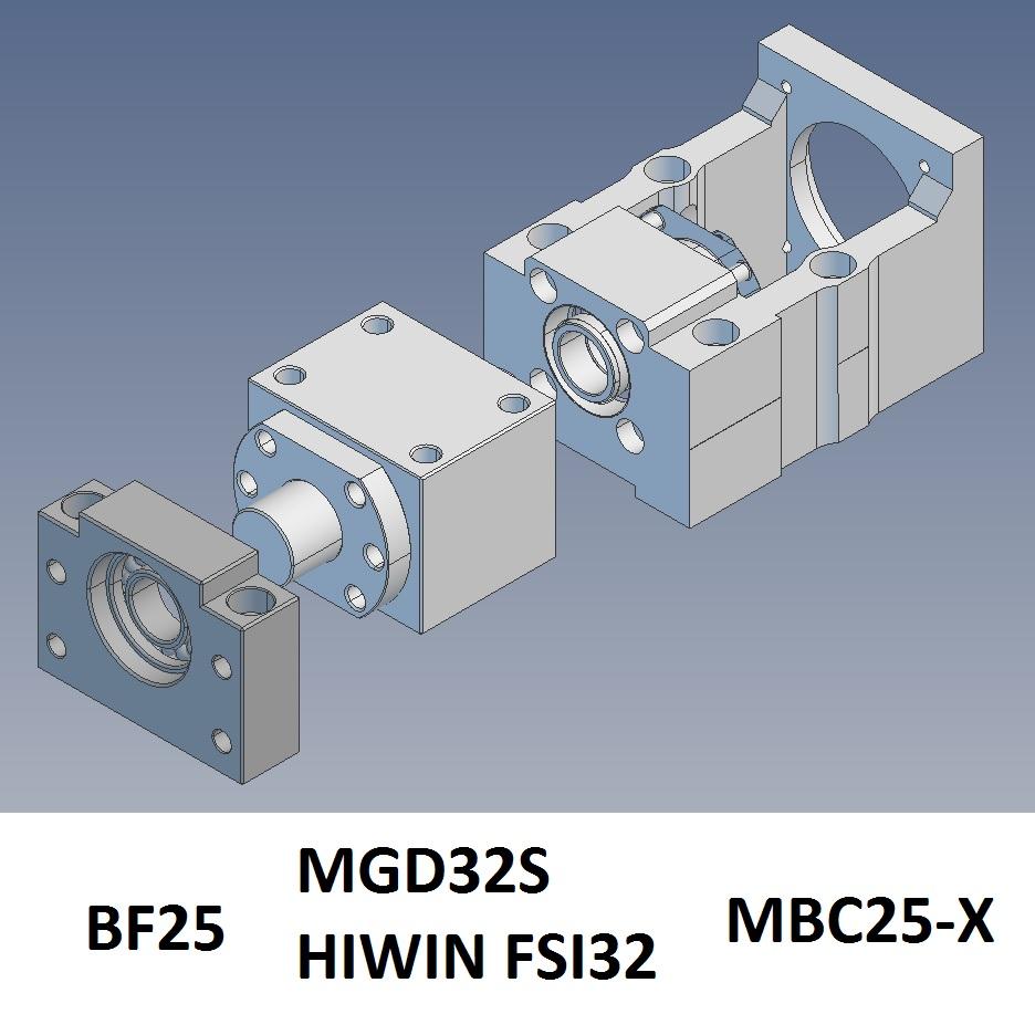 43853 100x100 servo motor bracket mbc25x example assembly