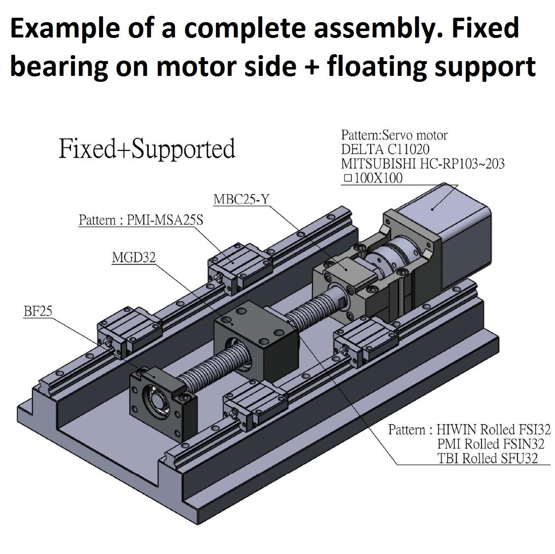 43854 100x100 servo motor bracket mbc25x example assembly 2