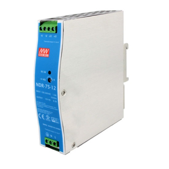 43901ndr7512 12vdc 75w din rail powersupply