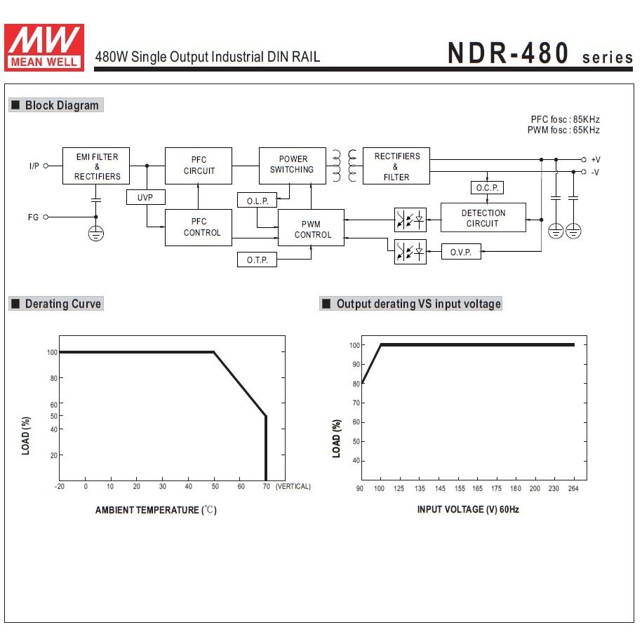 43994 mean well ndr48048 48vdc 480w din rail powersupply block diagram