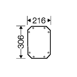 44102 fpmp20 enystar mountingplate w216 x h306 mm 2d dimensions