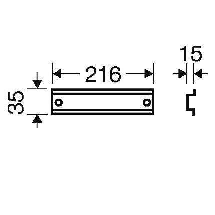 44332 fp ts 27 din rail 216mm length 2d dimensions
