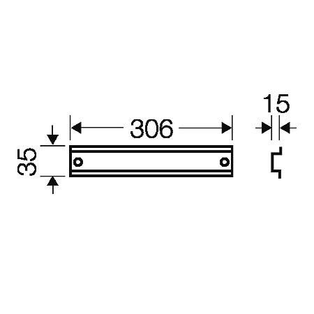 44342 fp ts 36 din rail 306mm length 2d dimensions