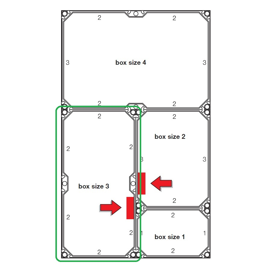 44403 fp 0311 enystar empty enclosure with closing plates box size 3