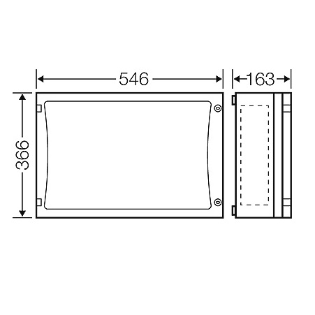 44412 fp 0401 enystar empty enclosure with closing plates 2d dimensions