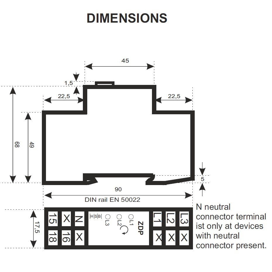 44663 measuring relay dimensions