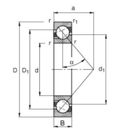 44912 angular contact bearing dimensions
