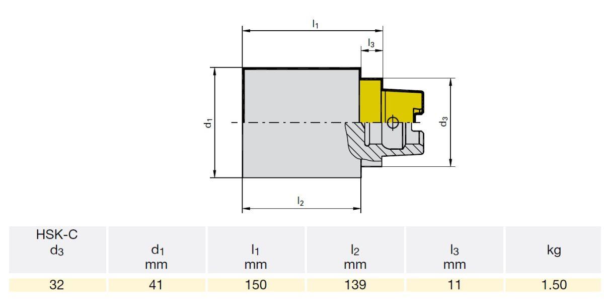 45142 gm300 hsk32c 04982 050032 blank l1166mm d141mm dimensions