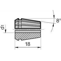 45582 regofix standard er 11 collet guhring 4307 dimensions
