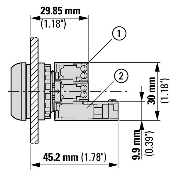 45743 m22fk01 nc contact block 180791 dimensions compared