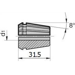 45772 regofix standard er 20 collet guhring 4307 dimensions