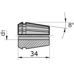45982 regofix standard er 25 collet guhring 4307 dimensions