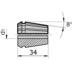 46032 regofix standard er 25 collet guhring 4307 dimensions