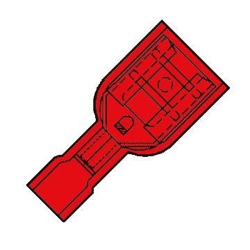 46261 crimp terminal red female slide xl 6608mm